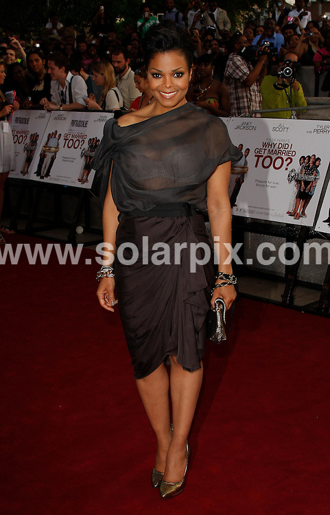 **ALL ROUND PICTURES FROM SOLARPIX.COM**.**WORLDWIDE SYNDICATION RIGHTS**.Janet Jackson arrives at the Special Screening of Why Did I Get Married Too at the Ritzy Cinema, Brixton..This pic:   Janet Jackson.JOB REF:    11297   LNJ     DATE:   21.05.10.**MUST CREDIT SOLARPIX.COM OR DOUBLE FEE WILL BE CHARGED**.**MUST NOTIFY SOLARPIX OF ONLINE USAGE**.**CALL US ON: +34 952 811 768 or LOW RATE FROM UK 0844 617 7637**