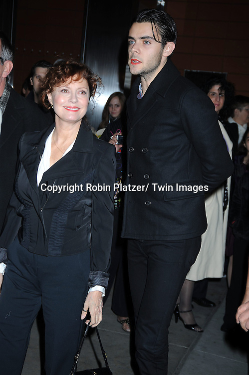 """Susan Sarandon and guest attending The Opening Night of """"The Pee-Wee Herman Show"""" on Broadway .on November 11, 2010 at The Stephen Sondheim Theatre in New York City."""