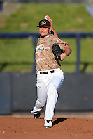 Quad Cities River Bandits starting pitcher Lance McCullers #23 warms up in the bullpen before a game against the Wisconsin Timber Rattlers on May 24, 2013 at Modern Woodmen Park in Davenport, Iowa.  Quad Cities defeated Wisconsin 4-3  (Mike Janes/Four Seam Images)