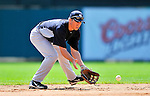 8 March 2011: New York Yankees' infielder Doug Bernier warms up prior to a Spring Training game against the Atlanta Braves at Champion Park in Orlando, Florida. The Yankees edged out the Braves 5-4 in Grapefruit League action. Mandatory Credit: Ed Wolfstein Photo