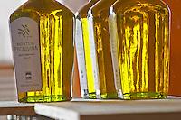 Bottles of Monte de Peceguina olive oil. Herdade da Malhadinha Nova, Alentejo, Portugal