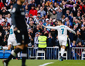 9th December 2017, Santiago Bernabeu, Madrid, Spain; La Liga football, Real Madrid versus Sevilla; Cristiano Ronaldo  of Real Madrid celebrates the (2,0) after scoring his sides goal