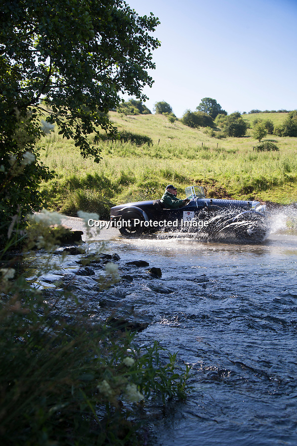 14/06/16<br /> <br /> Charles Graves and Bob Hargreaves in a 1937 Bentley Derby 4 1/2.<br /> <br /> Competitors in the Royal Automobile Club 1000 Mile Trial splash through Tissington Ford near Ashbourne in the Derbyshire Peak District. The rally saw 43 pre-war cars leave Edinburgh on Monday and finishes in Dorking, Surrey on Saturday.<br /> All Rights Reserved, F Stop Press Ltd.