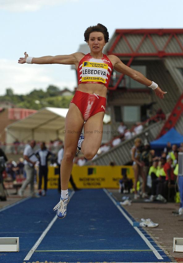 Photo. Jed Wee..Norwich Union British Grand Prix, 27/06/2004..Russia's Tatyana Lebedeva.