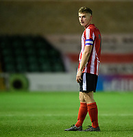 Lincoln City U18's Charlie West<br /> <br /> Photographer Chris Vaughan/CameraSport<br /> <br /> The FA Youth Cup Second Round - Lincoln City U18 v South Shields U18 - Tuesday 13th November 2018 - Sincil Bank - Lincoln<br />  <br /> World Copyright © 2018 CameraSport. All rights reserved. 43 Linden Ave. Countesthorpe. Leicester. England. LE8 5PG - Tel: +44 (0) 116 277 4147 - admin@camerasport.com - www.camerasport.com