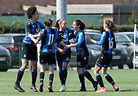 Zulte C - Club Brugge B : Dames Club Brugge B kampioen in 1ste provinciale  ;  vreugde na de 1-1 gelijkmaker<br /> Foto David Catry | Sportpix.be