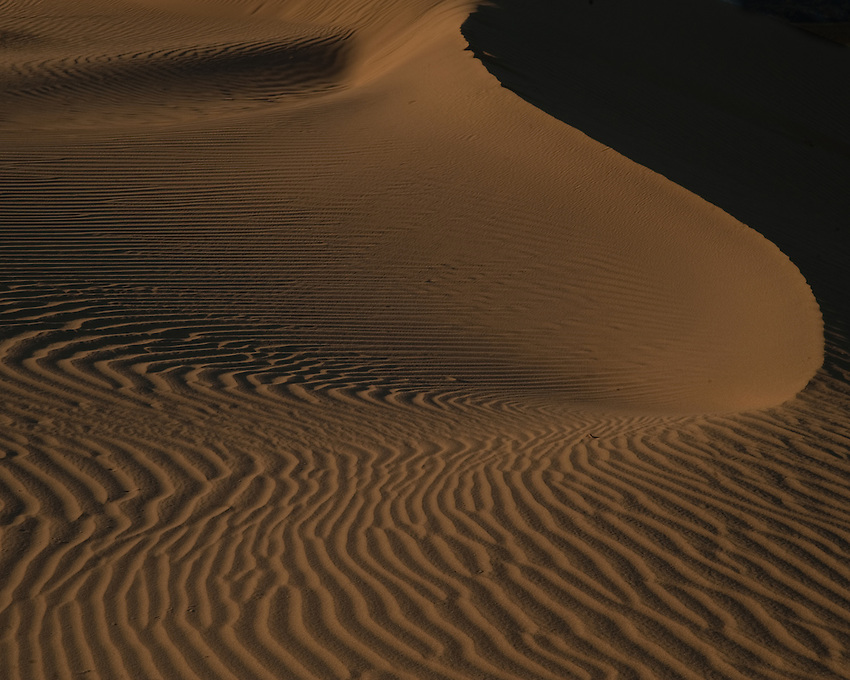 Evening lights on the Algodones Dunes, California