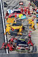 Pit stops, Daytona 500, NASCAR Sprint Cup Series, Daytona International Speedway, Daytona Beach, FL