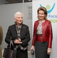 Queen Mathilde of Belgium and Queen Paola of Belgium visit Child Focus Foundation - Belgium