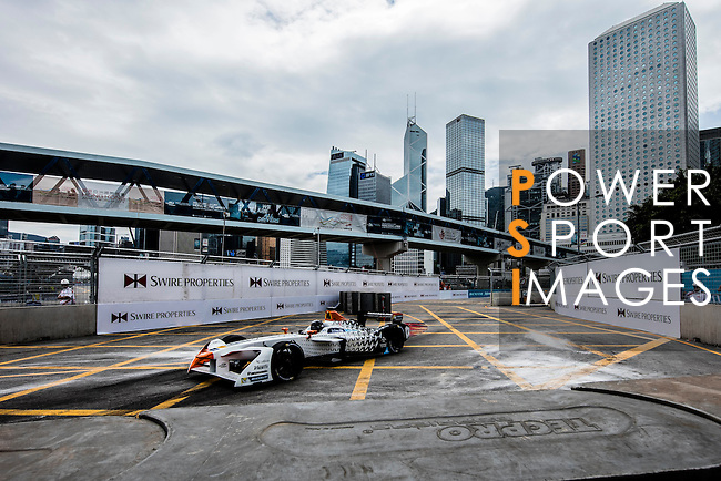 Loic Duval of Faraday Future Dragon Racing during the first stop of the FIA Formula E Championship HKT Hong Kong ePrix at the Central Harbourfront Circuit on 9 October 2016, in Hong Kong, China. Photo by Victor Fraile / Power Sport Images