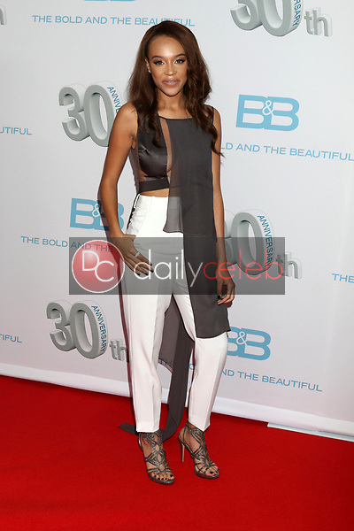 "Reign Edwards<br /> at the ""The Bold and The Beautiful"" 30th Anniversary Party, Clifton's Downtown, Los Angeles, CA 03-18-17<br /> David Edwards/DailyCeleb.com 818-249-4998"