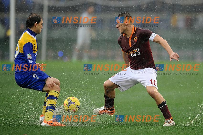 Francesco Totti Roma.<br /> Roma 2-02-2014 Stadio Olimpico. Football Calcio 2013/2014 Serie A. AS Roma - Parma. Foto Antonietta Baldassarre / Insidefoto