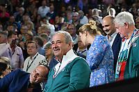 January 1, 2020: The father of 14th seed SOFIA KENIN (USA) celebrates after Kenin defeated GARBIÑE MUGURUZA (ESP) on Rod Laver Arena in the Women's Singles Final match on day 13 of the Australian Open 2020 in Melbourne, Australia. Photo Sydney Low. Kenin won 46 62 62