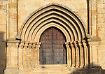 Iglesia de Santa Maria de Major church door, medieval town of Trujillo, Caceres province, Extremadura, Spain