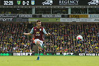 Frederic Guilbert of Aston Villa in action during Norwich City vs Aston Villa, Premier League Football at Carrow Road on 5th October 2019