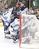Matt Duffy, Ben Bishop, Matt Greene, Billy Ryan, Steve Mullin - The Boston College Eagles defeated the University of Maine Black Bears 4-1 in the Hockey East Semi-Final at the TD Banknorth Garden on Friday, March 17, 2006.