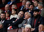 Sheffield Utd co-owner Prince Abdullah bin Musa'ad bin Abdul Aziz talks to co-owner Kevin McCabe during the English League One match at  Bramall Lane Stadium, Sheffield. Picture date: April 30th 2017. Pic credit should read: Simon Bellis/Sportimage