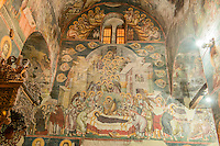 Frescoes on church walls, Holy Mother of God Peribleptos Church, Ohrid, Macedonia, Built in 1295,  Some of the finest examples of Byzantine frescoes in the world