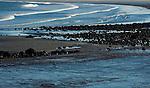 Winter sun setting on King's Beach, Lynn Massachusetts