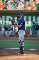 David Fry (5) of the Helena Brewers during the game against the Ogden Raptors at Lindquist Field on July 14, 2018 in Ogden, Utah. Ogden defeated Helena 8-6. (Stephen Smith/Four Seam Images)