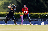 Eoin Morgan of Middlesex in batting action during Middlesex vs Essex Eagles, Royal London One-Day Cup Cricket at Radlett Cricket Club on 17th May 2018