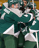 Phil Moore (Plymouth State - 4), Alex Cottle (Plymouth State - 28), ?, Phil Arnone (Plymouth State - 21) - The visiting Plymouth State University Panthers defeated the Salem State University Vikings 3-2 on Thursday, December 1, 2011, at Rockett Arena in Salem, Massachusetts.