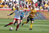 Sandy, UT - Saturday April 14, 2018: Nikki Stanton during a regular season National Women's Soccer League (NWSL) match between the Utah Royals FC and the Chicago Red Stars at Rio Tinto Stadium.