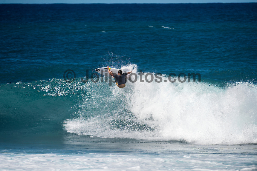 Rocky Point, North Shore of Oahu, Hawaii.  Saturday December 5 2014) Dane Reynolds (USA). - The surf was in the 4'-6' range at Rocky Point today with a bumpy  NW swell and side NE Trade winds. Photo: joliphotos.com