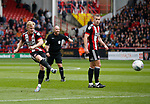 Mark Duffy of Sheffield Utd takes a free kick during the Championship match at Bramall Lane Stadium, Sheffield. Picture date 16th September 2017. Picture credit should read: Simon Bellis/Sportimage