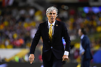 Chicago, IL - Wednesday June 22, 2016: Jose Pekerman during a Copa America Centenario semifinal match between Colombia (COL) and Chile (CHI) at Soldier Field.