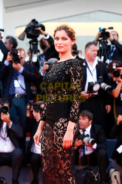 Laetitia Casta.The Opening Ceremony of the 69th Venice International Film Festival at Palazzo del Cinema, Venice, Italy. .August 29th, 2012 .half length black lace dress see through thru bra underwear knickers photographers press .CAP/IPP/GR.©Gianluca Rona/IPP/Capital Pictures.