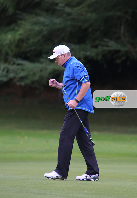 Paul Gibson (Mahee Island) during the Ulster Mixed Foursomes Final, Shandon Park Golf Club, Belfast. 19/08/2016<br /> <br /> Picture Jenny Matthews / Golffile.ie<br /> <br /> All photo usage must carry mandatory copyright credit (© Golffile | Jenny Matthews)