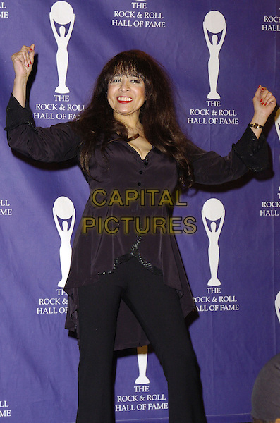 VERONICA SPECTOR .The 22nd annual Rock And Roll Hall Of Fame  induction ceremony at the Waldorf Astoria Hotel, New York, New York, USA..March 12th, 2007.half length black top hands arms in air .CAP/ADM/BL.©Bill Lyons/AdMedia/Capital Pictures *** Local Caption ***