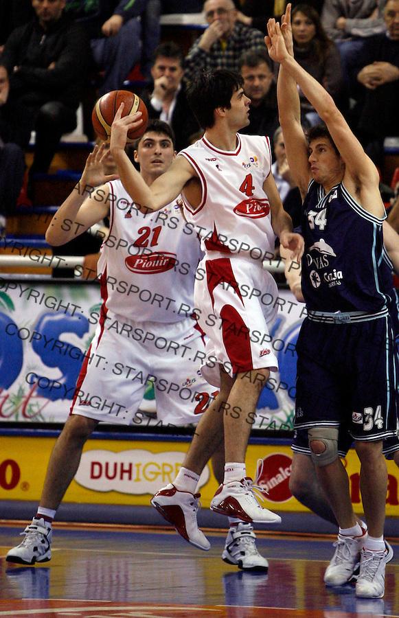 Sport Kosarka Basketball Uleb Cup Kup Fmp Zeleznik Gran Kanarija Canaria Predrag Samardziski i Milos Teodosic 13.2.2007. photo: Pedja Milosavljevic