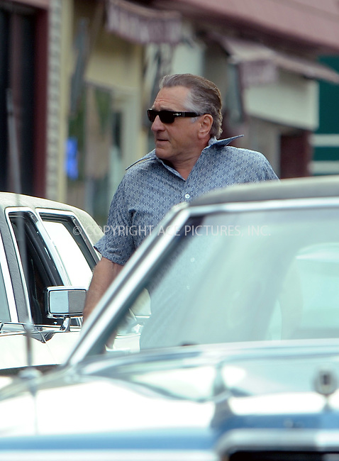 www.acepixs.com<br /> <br /> September 21 2017, New York<br /> <br /> Actor Robert De Niro was on the set of the new movie 'The Irishman' on September 21 2017 in Up State New York<br /> <br /> By Line: William Jewell/ACE Pictures<br /> <br /> <br /> ACE Pictures Inc<br /> Tel: 6467670430<br /> Email: info@acepixs.com<br /> www.acepixs.com