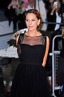 Kelly Marcel <br /> attending the 57th BFI London Film Festival Closing Night Gala World Premiere of 'Saving Mr Banks', Odeon Cinema, Leicester Square, London, England. <br /> 20th October 2013<br /> half length black sheer dress <br /> CAP/MAR<br /> © Martin Harris/Capital Pictures