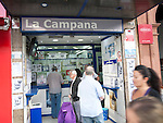 La Campana small shop selling lottery tickets city centre of Seville, Spain