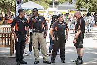 Campus Safety. Involvement Fair in the Academic Quad, Sept. 8, 2016. The annual event is an opportunity for students to learn about and join student-run clubs that offer a wide variety of interests.<br /> (Photo by Marc Campos, Occidental College Photographer)