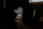 View from port of Kotor through ancien door