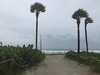 Storm surge caused by Hurricane Irma in Miami Beach, Fla. on September 9, 2017.