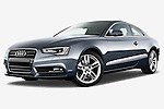 Low aggressive front three quarter view of 2012 Audi A5 S Line Coupe Stock Photo
