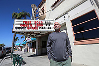 March 12, 2019. Encinitas, CA. USA| The owner of the La Paloma Theater in Encinitas Allen Largent.  | Photos by Jamie Scott Lytle. Copyright.