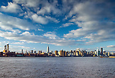 USA, New York, View of the New York City skyline and the East River from the Williamsburg neighborhood of Brooklyn