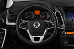 Car pictures of steering wheel view of a 2017 Ssangyong Korando Quartz 5 Door SUV