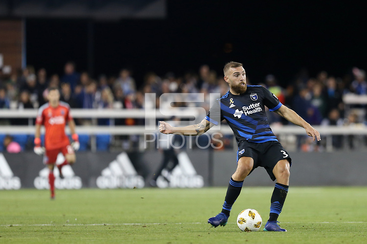 San Jose, CA - Saturday September 15, 2018: Guram Kashia during a Major League Soccer (MLS) match between the San Jose Earthquakes and Sporting Kansas City at Avaya Stadium.