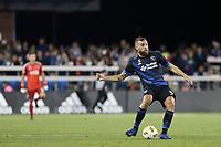 San Jose, CA - Saturday September 15, 2018: Guram Kashia during a Major League Soccer (MLS) match between the San Jose Earthquakes and Sporting Kansas City at Avaya Stadium.
