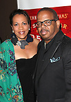 Robin Burgess and Terence Blanchard.attending the Broadway Opening Night Performance of 'A Streetcar Named Desire' at the Broadhurst Theatre on 4/22/2012 in New York City.