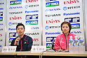 (L to R) Shintaro Ikeda, Reiko Shiota, DECEMBER 9, 2011 - Badminton : 65th All Japan Badminton Championships Mixed Doubles at Yoyogi 2nd Gymnasium in Tokyo, Japan. (Photo by Jun Tsukida/AFLO SPORT) [0003]