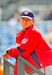 6 March 2009: Washington Nationals' hitting coach Rick Eckstein watches batting practice prior to a Spring Training game against the Baltimore Orioles at Fort Lauderdale Stadium in Fort Lauderdale, Florida. The Orioles defeated the Nationals 6-2 in the Grapefruit League matchup. Mandatory Photo Credit: Ed Wolfstein Photo