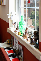 Asian ornaments on the window sill